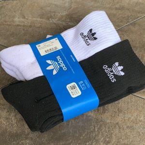 ADIDAS 6 pairs socks set CREW NWT